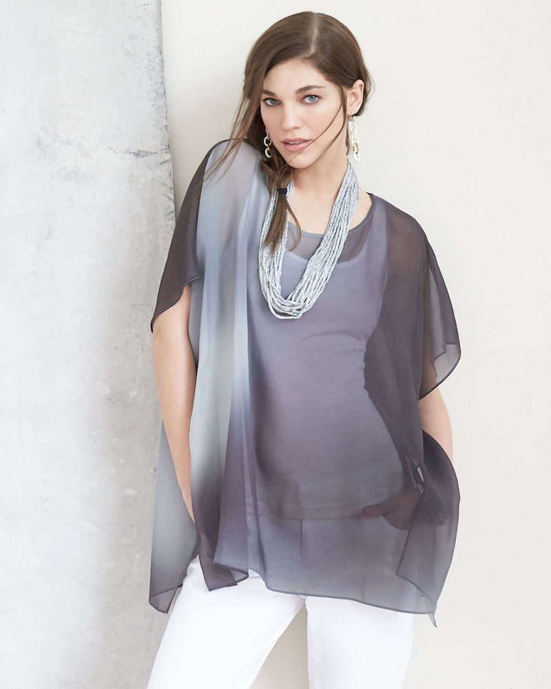 Eileen Fisher Watercolor Sheer Tunic