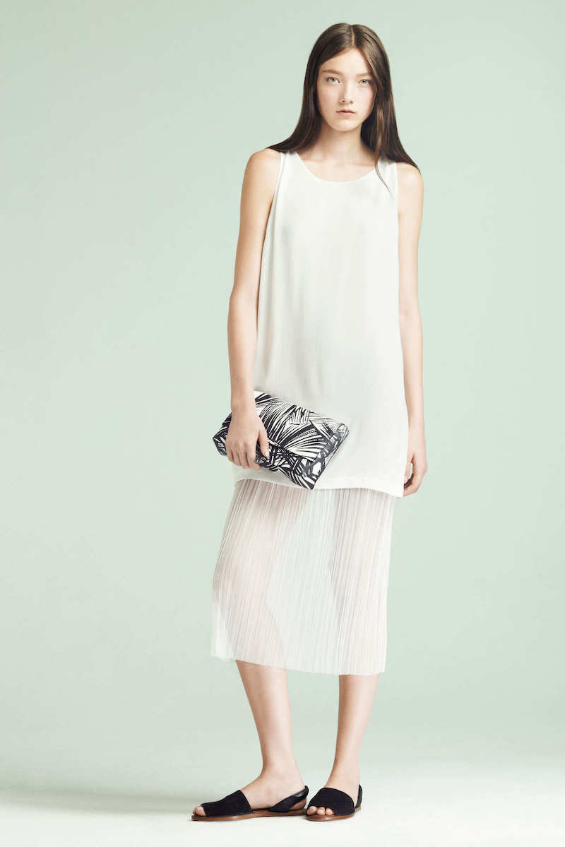 Elizabeth and James Kisa Pleated-hem Dress