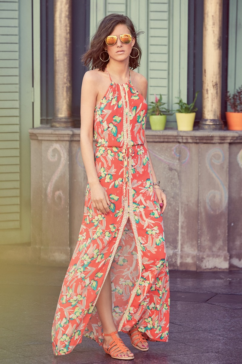 Ella Moss Floradita Sleeveless Maxi Dress