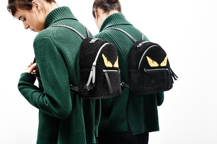 Fendi Mini Monster Plush Backpack