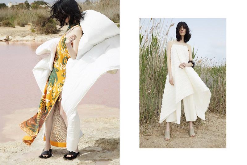 Gareth Pugh Fringed Cotton Voile Dress