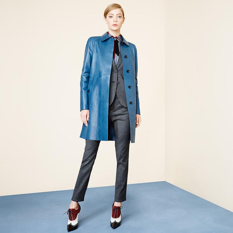 Gucci Plonge Leather Long Coat