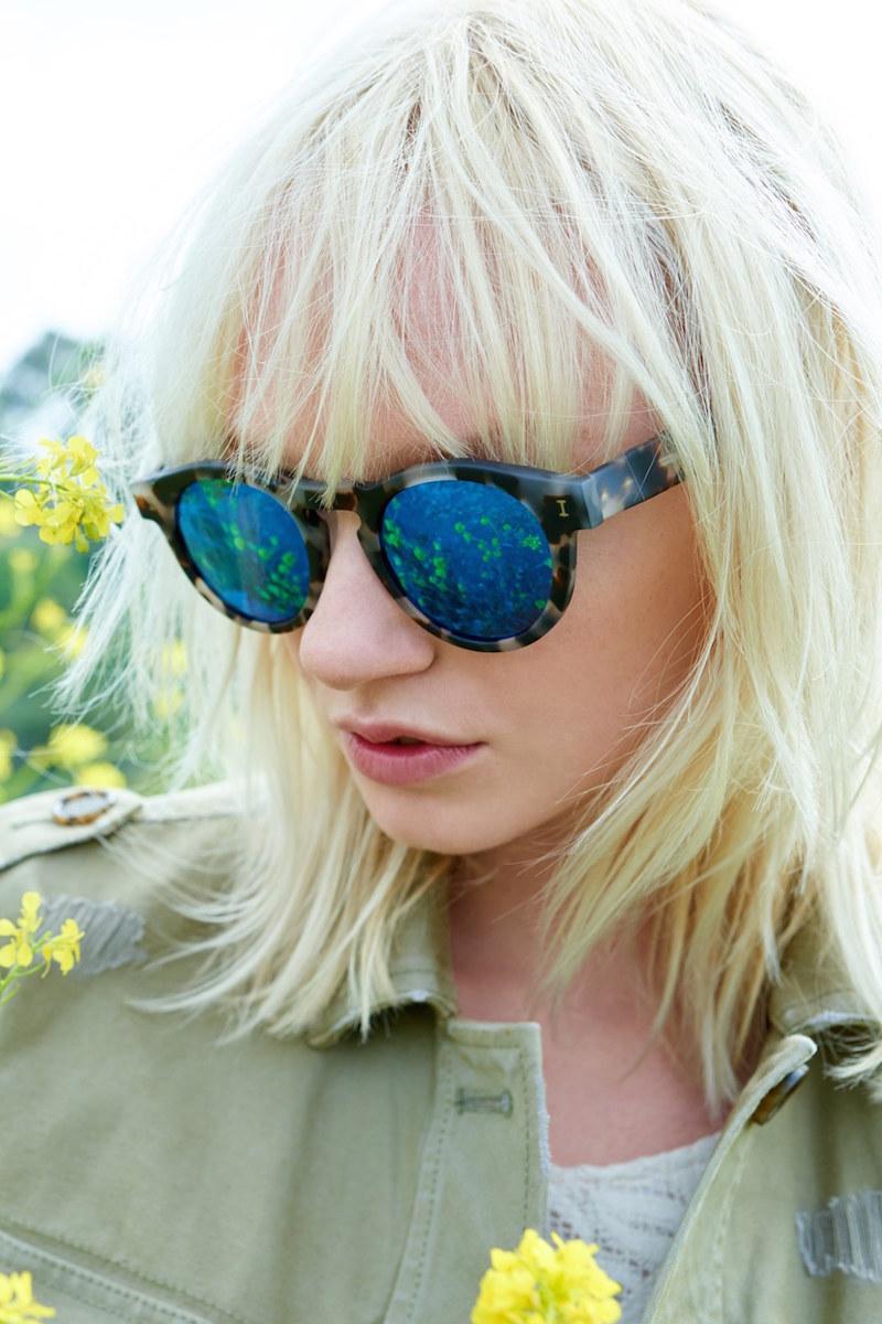 Illesteva Leonard 48mm Mirrored Sunglasses