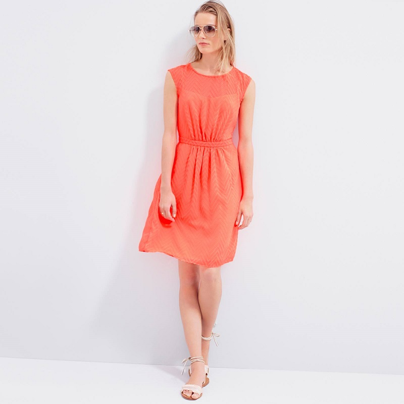 J.Crew Sleeveless Silk Chiffon Dress