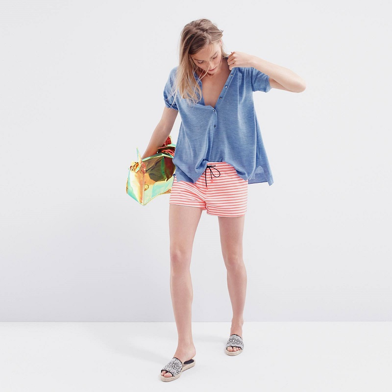 J.Crew Striped Knit Beach Short
