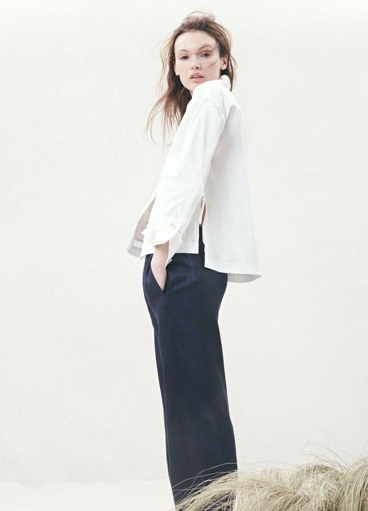 J.Crew tuxedo-stripe linen pant