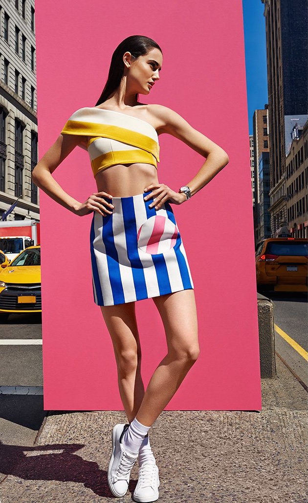 Jacquemus Striped Umbrella Miniskirt