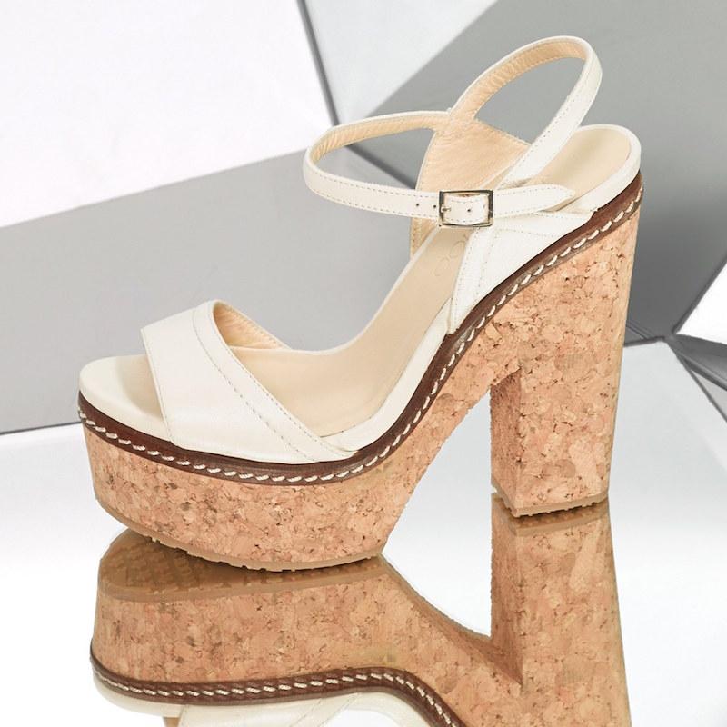 Jimmy Choo Naylor Cork Platform Sandal