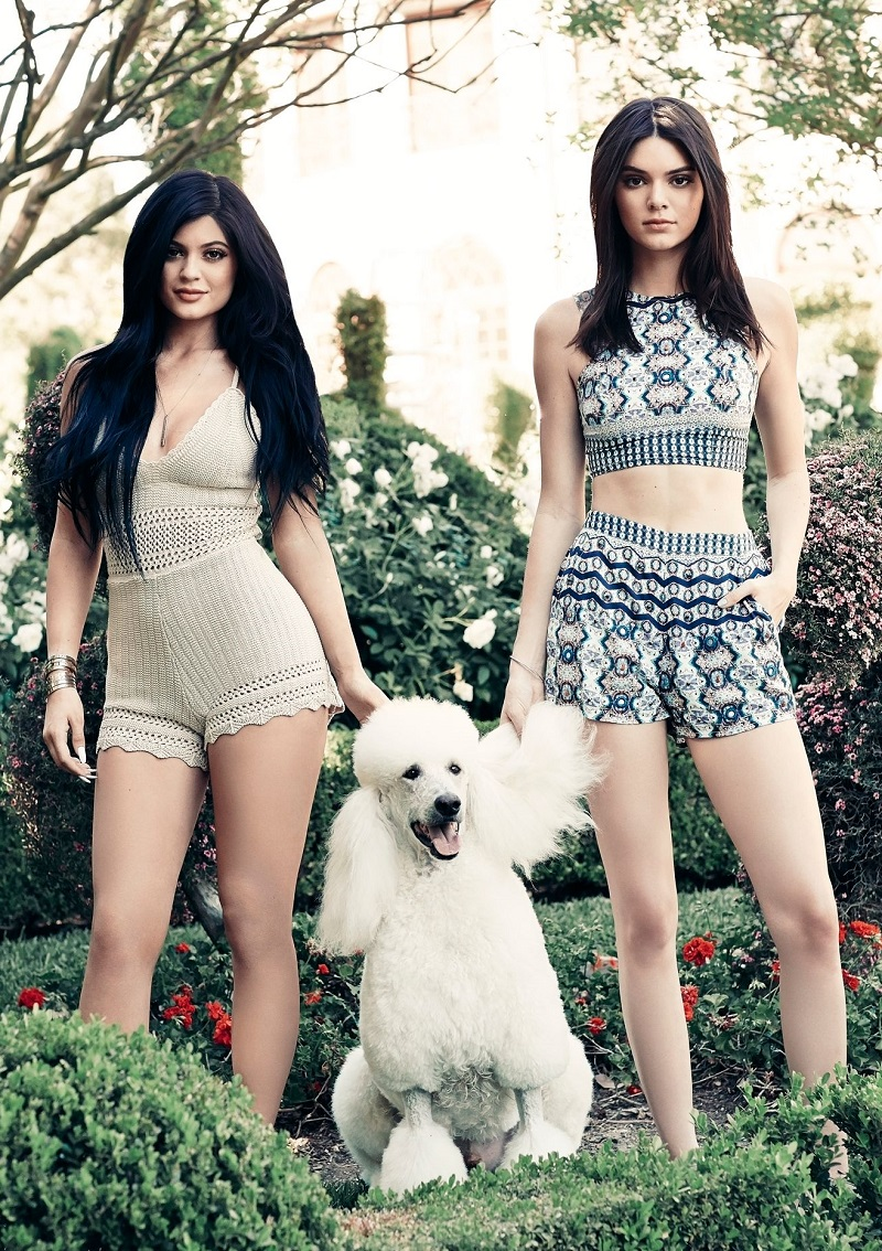 Kendall & Kylie Double Strap Cropped Tank Top