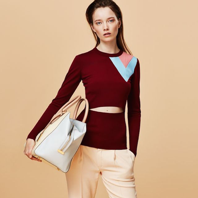 Loewe Leather-trimmed Wool Sweater