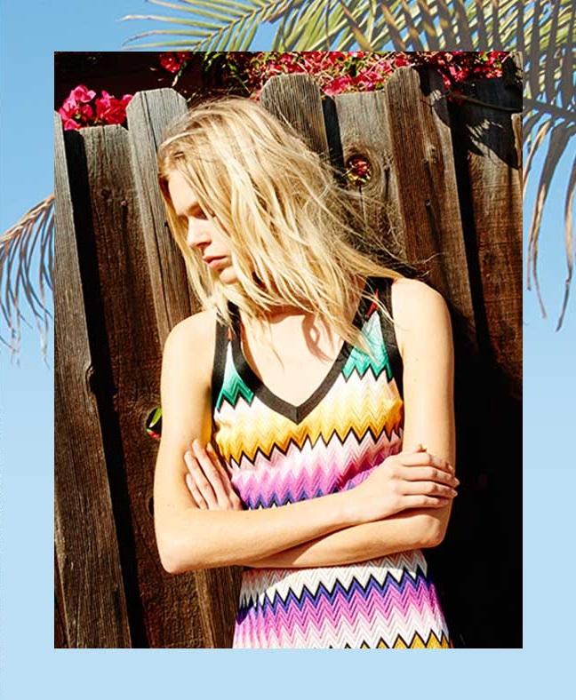 Missoni Chevron-knit maxi dress