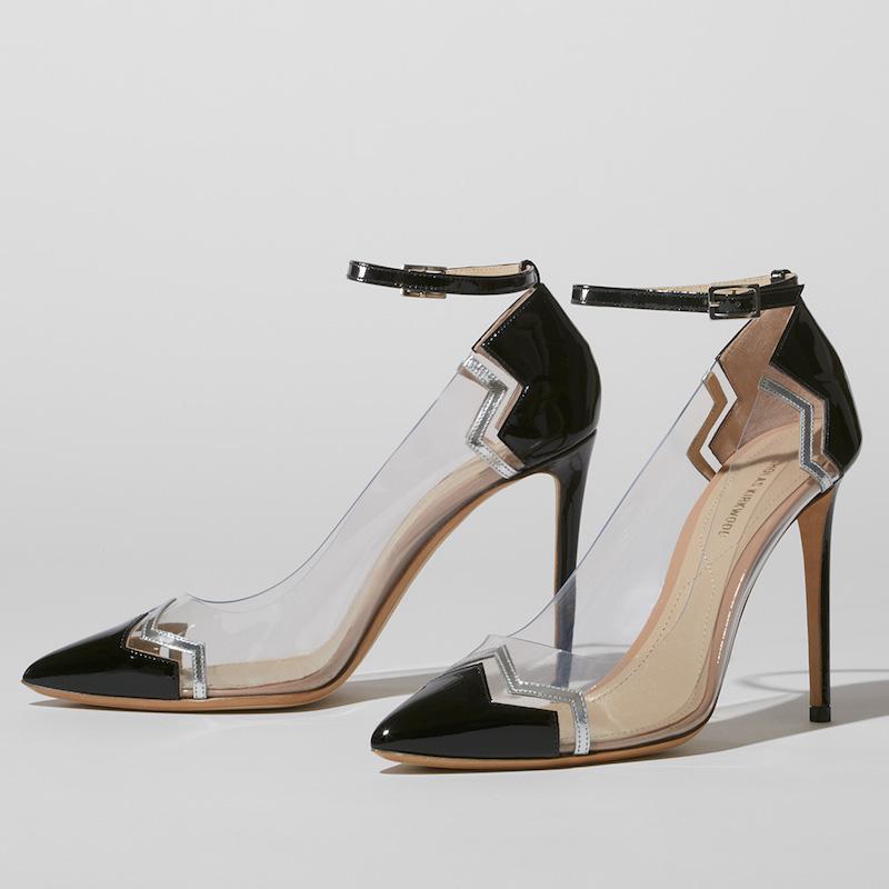 Nicholas Kirkwood Chevron Ankle-Strap Pumps