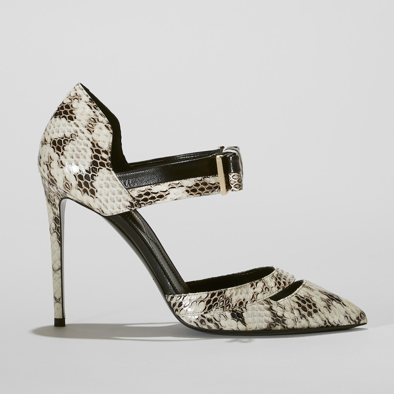 Nicholas Kirkwood Snakeskin & Leather Ankle-Strap Pumps
