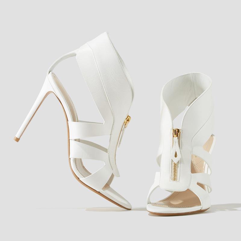 Nicholas Kirkwood Zip-Front Cutout Sandals
