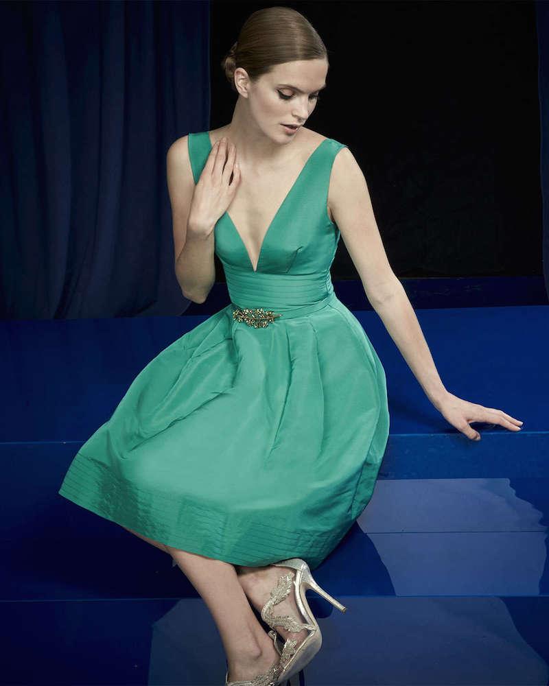 Oscar de la Renta Fit-and-Flare Pouf Dress