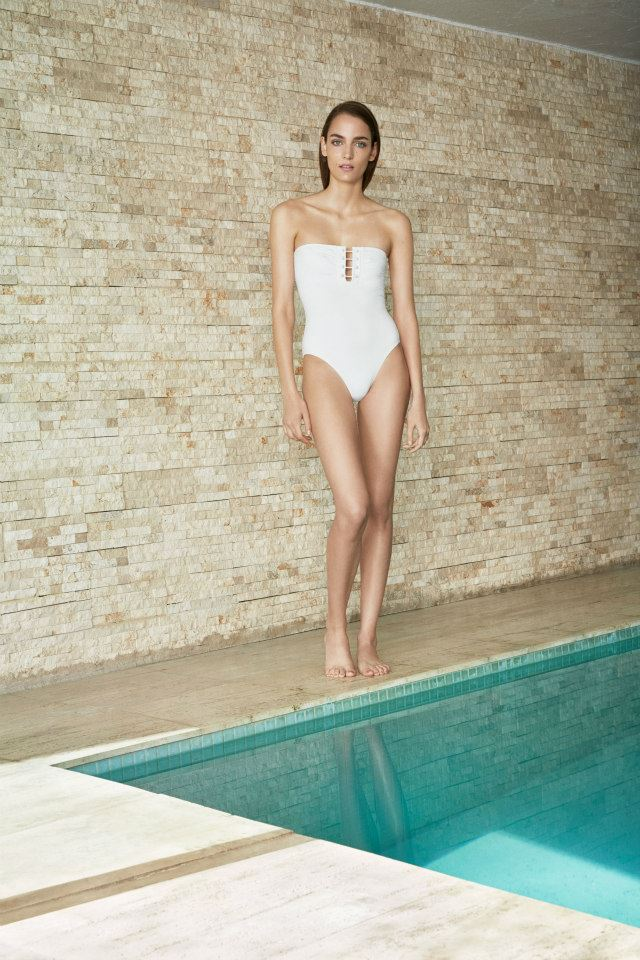 Proenza Schouler Barbell One-Piece Swim Suit