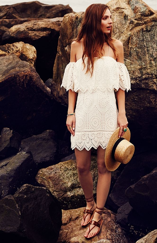 Saylor Montauk Eyelet Karen Dress