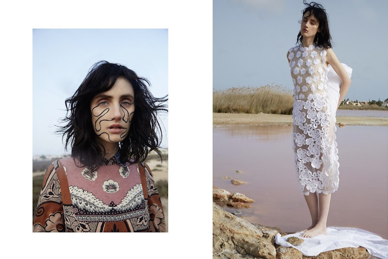 Simone Rocha Floral Embroidered Tulle Dress