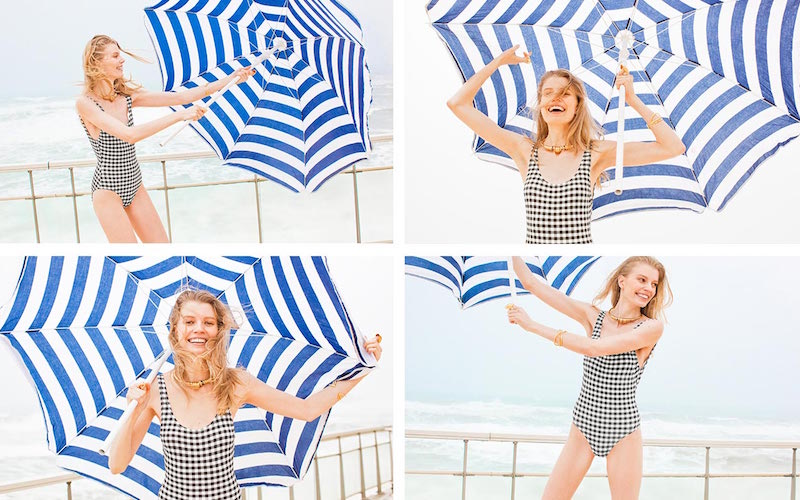 Solid & Striped The Anne-Marie Gingham Swimsuit