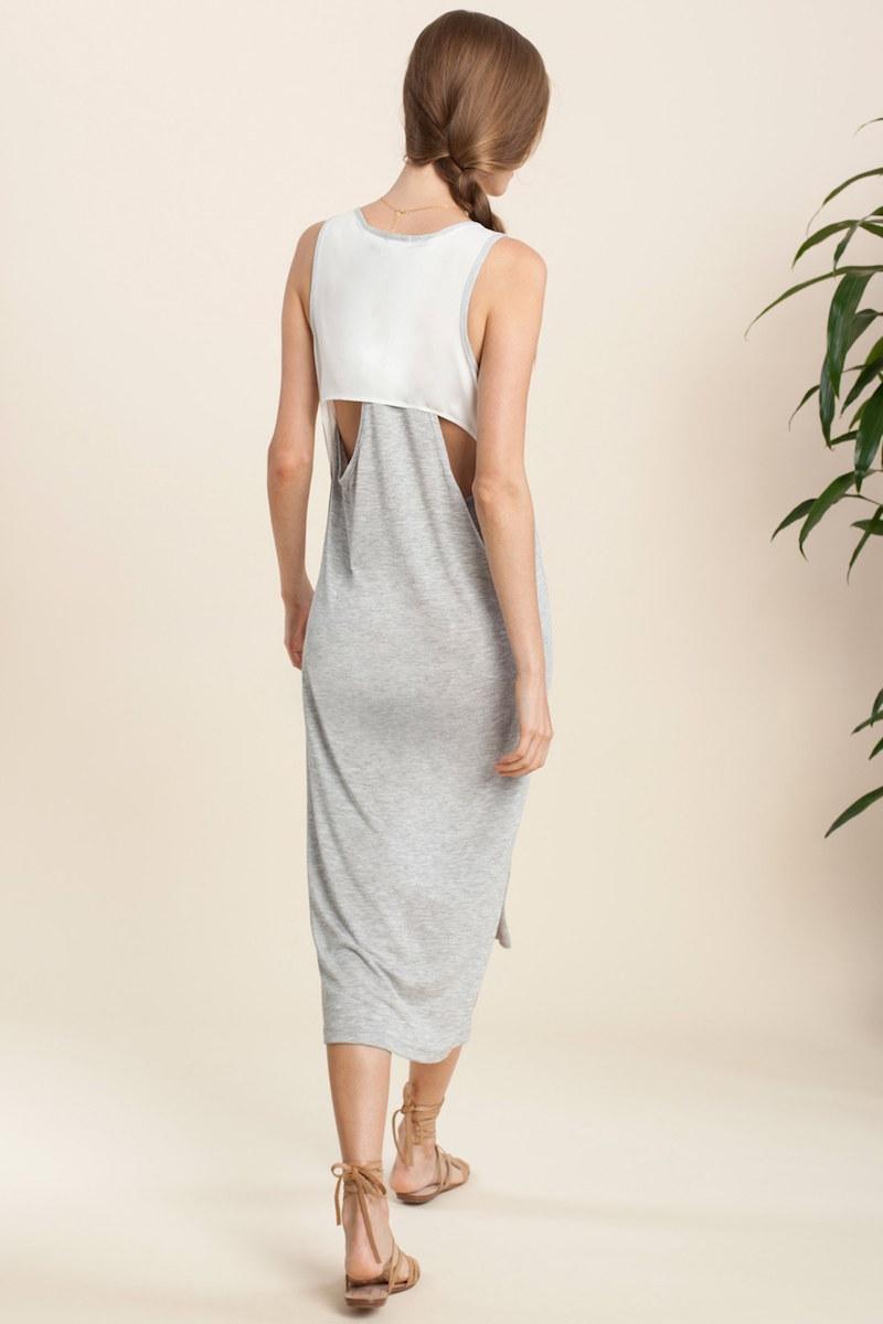 Splendid 2Fer Back Midi Dress