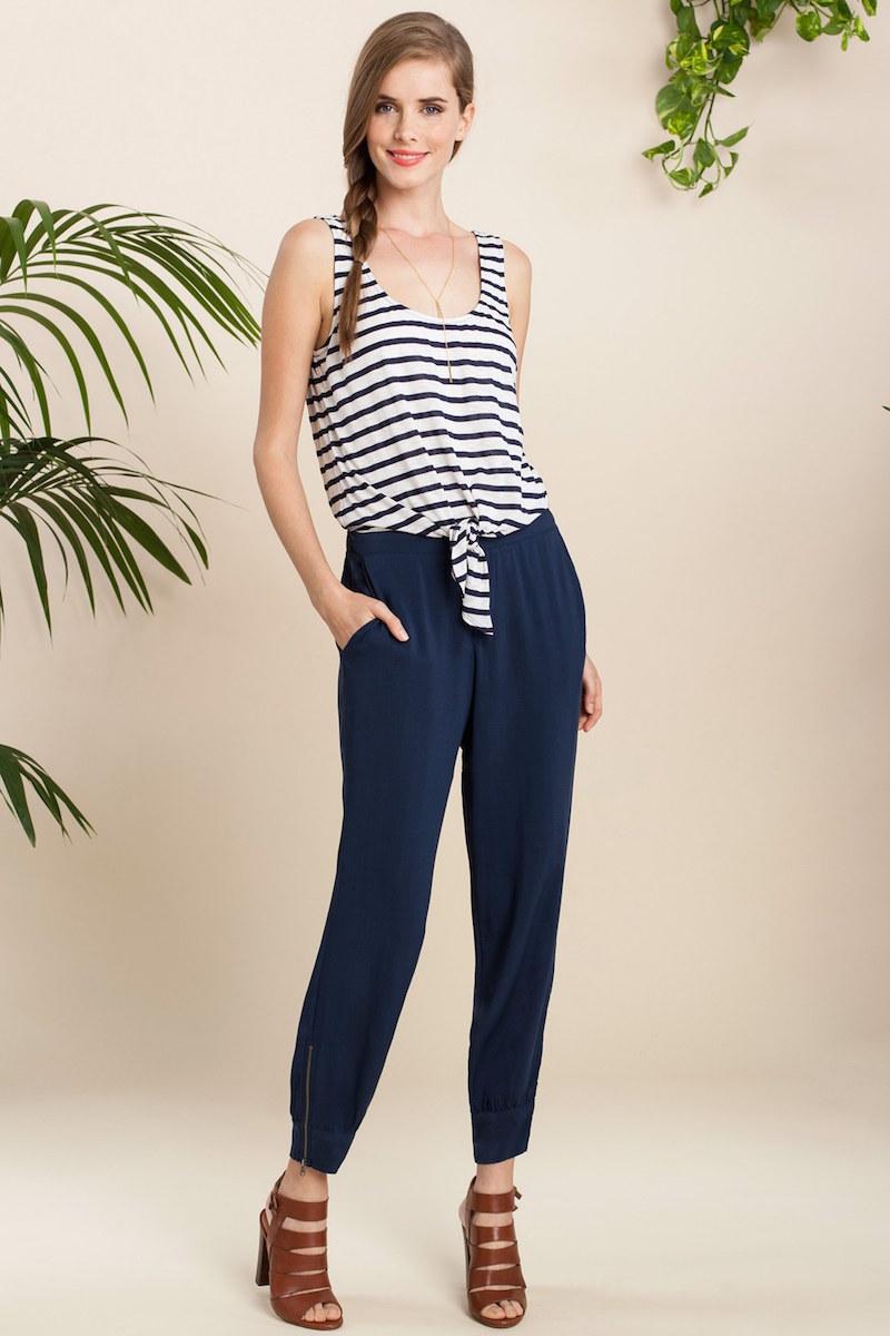 Splendid Nautical Stripe Jumpsuit