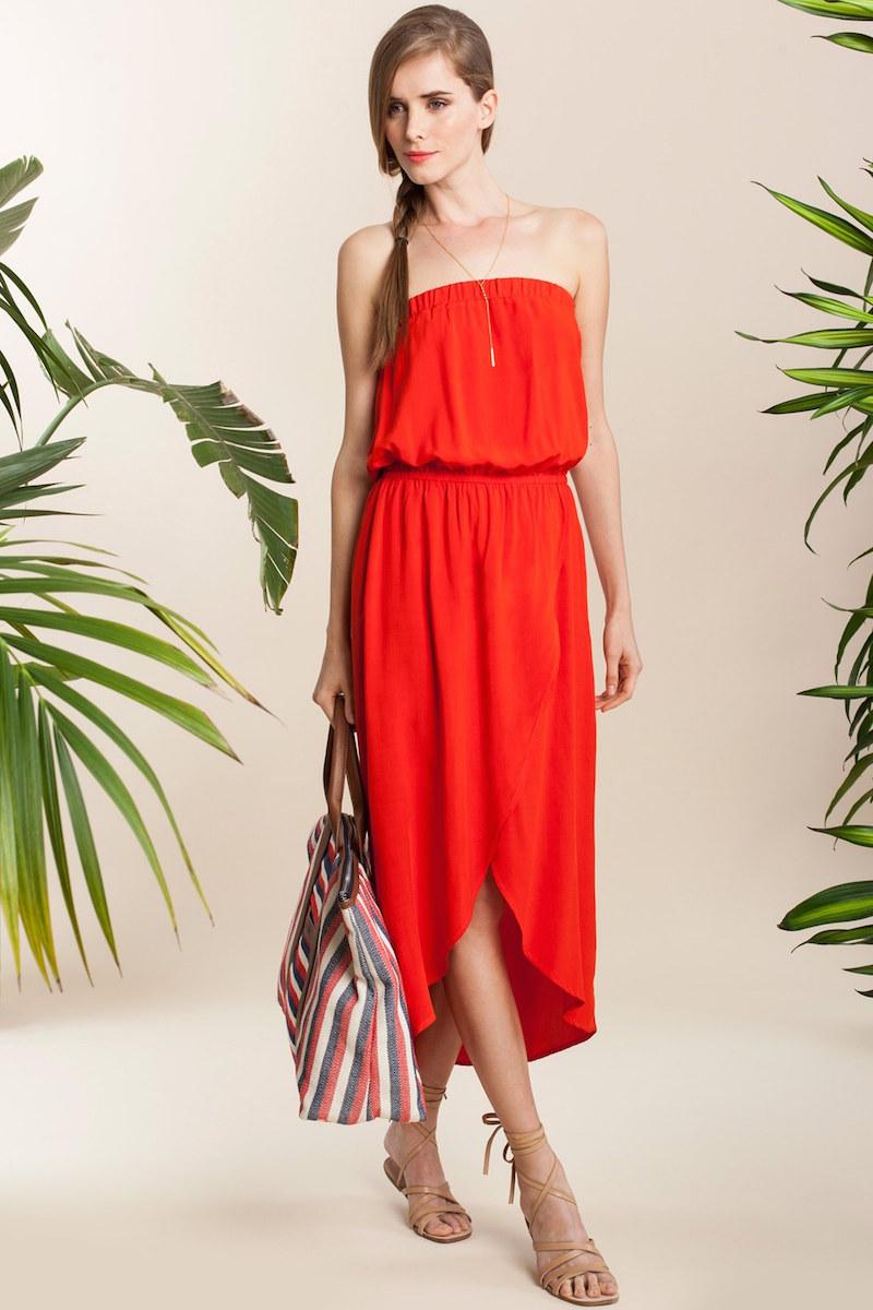 Splendid Strapless Midi Dress