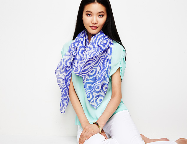 Spring Scarves from PÜR Cashmere at MYHABIT