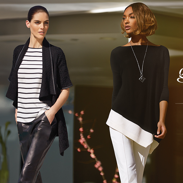 St. John Collection Leather Trim Cable Knit Cardigan