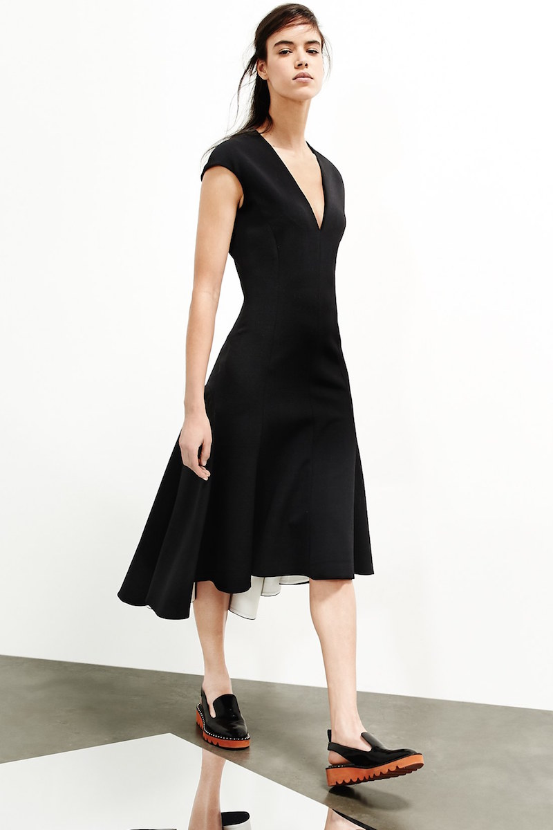 Stella McCartney Double Face Stretch Wool Fit & Flare Dress