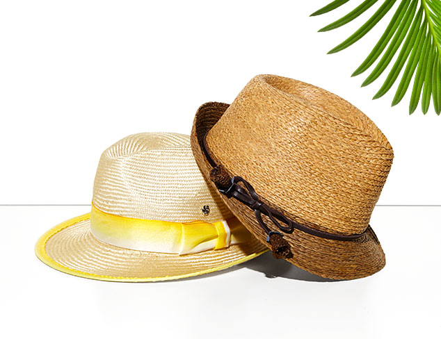 Straw Hats from Florabella at MYHABIT