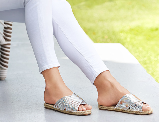 Sunny Outlook: Slides & Flat Espadrilles at MYHABIT