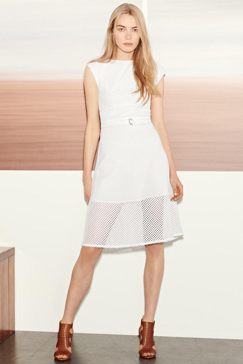 Theory Afala Eyelet A-Line Dress