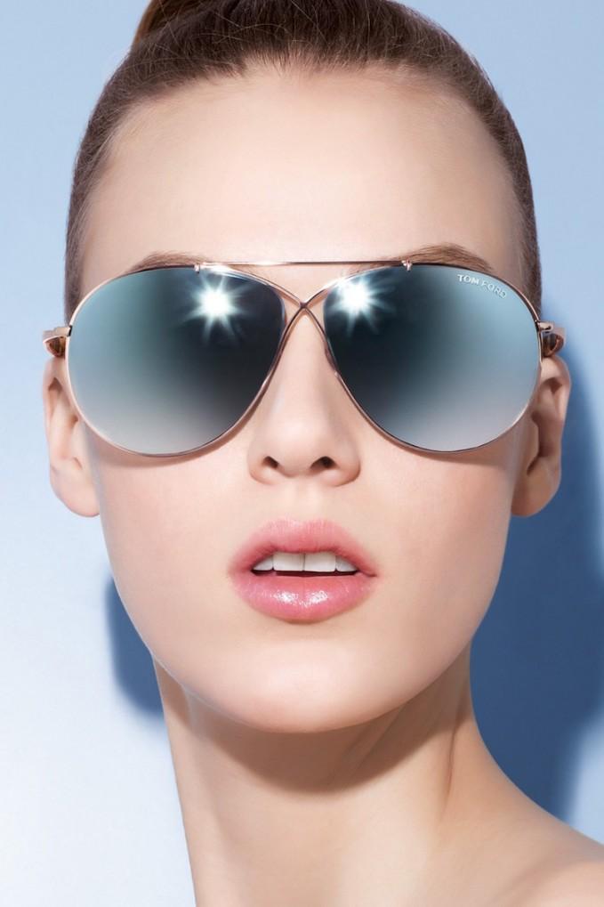 Tom Ford Eva 61mm Aviator Sunglasses Nawo