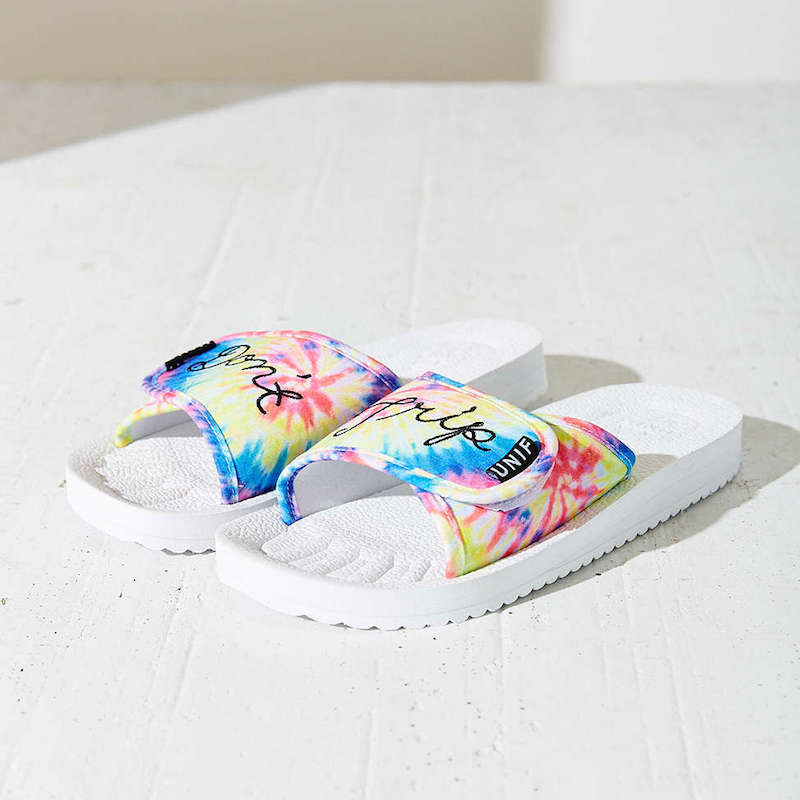 UNIF Don't Trip Tie-Dye Slides