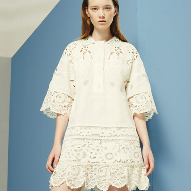 Valentino Lace-trimmed dress