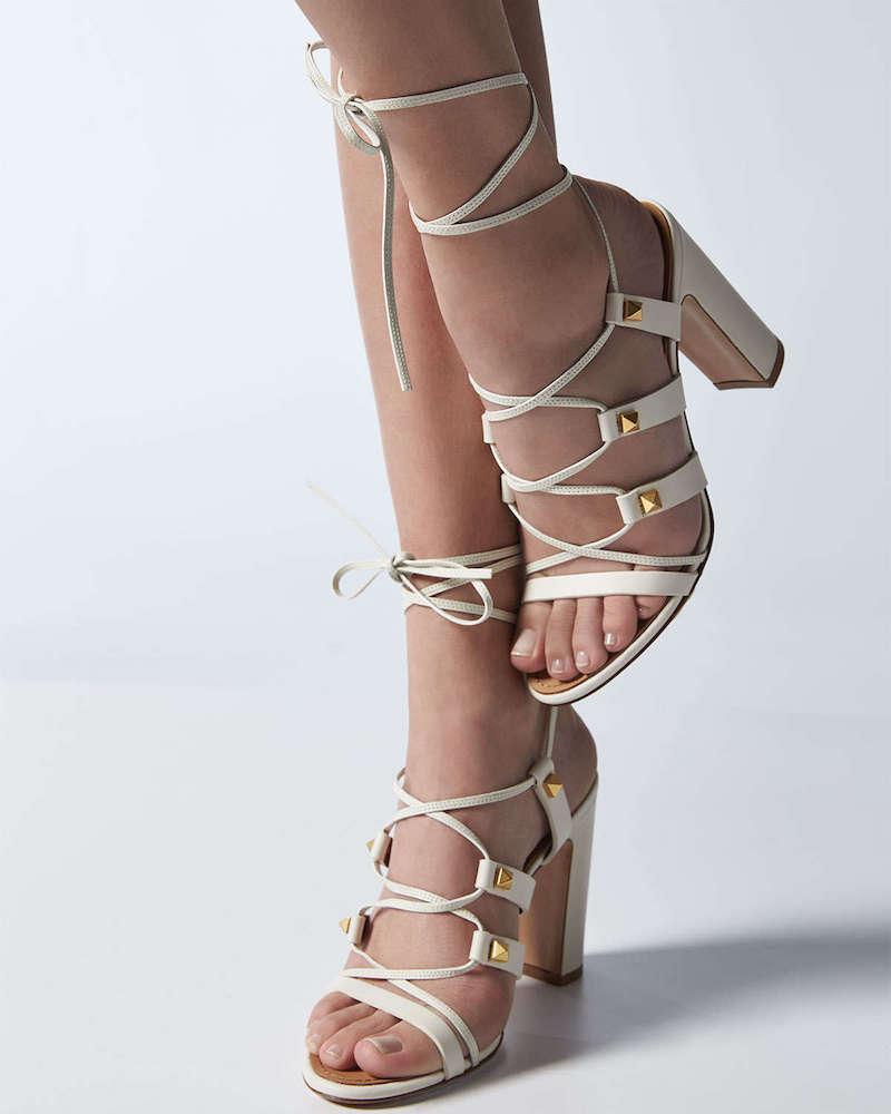 Valentino Rockstud High-Heel Gladiator Sandal