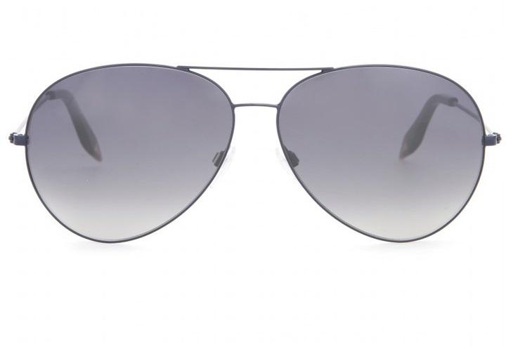 Victoria Beckham Platinum Modern Aviator Sunglasses