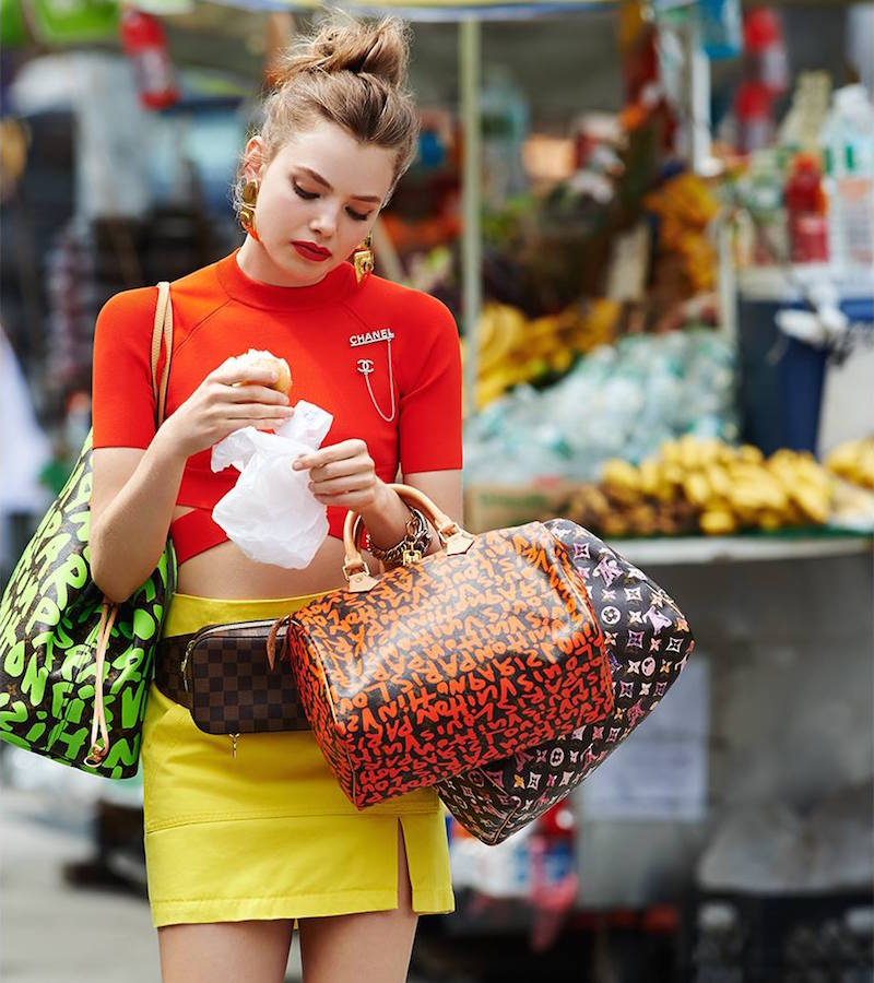 What Goes Around Comes Around Louis Vuitton Sprouse Graffiti Speedy 30 Bag