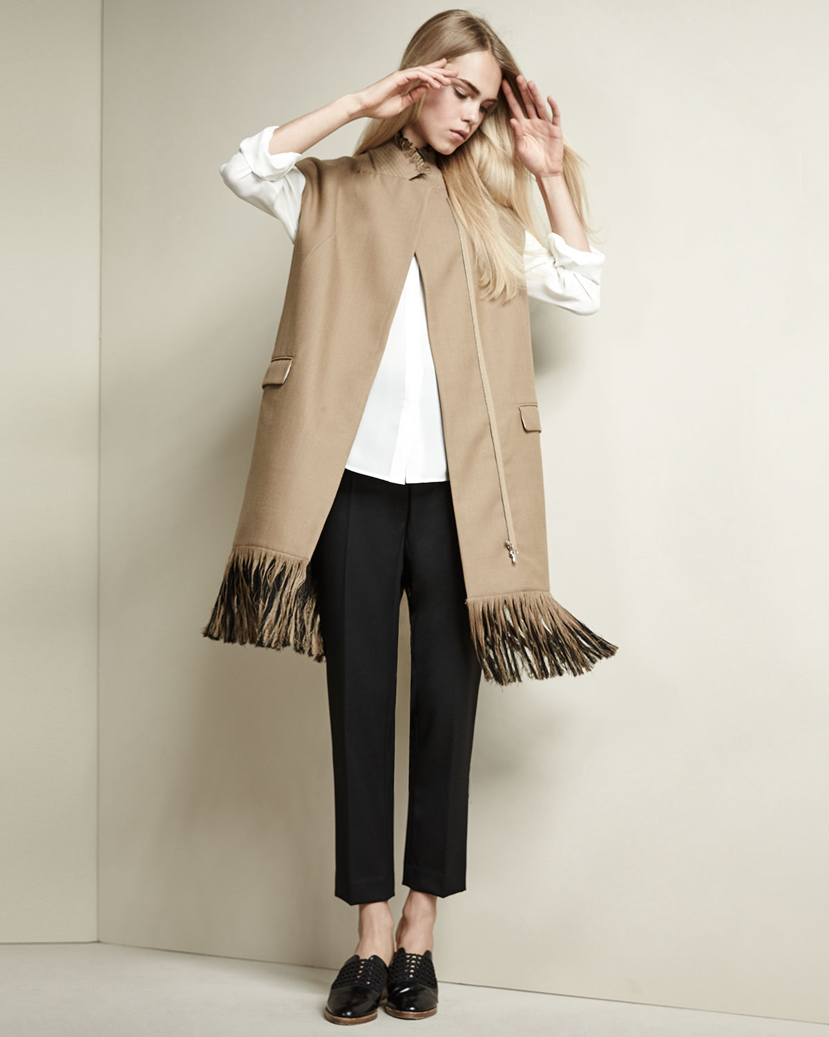 3.1 Phillip Lim Long Wool Vest with Fringe