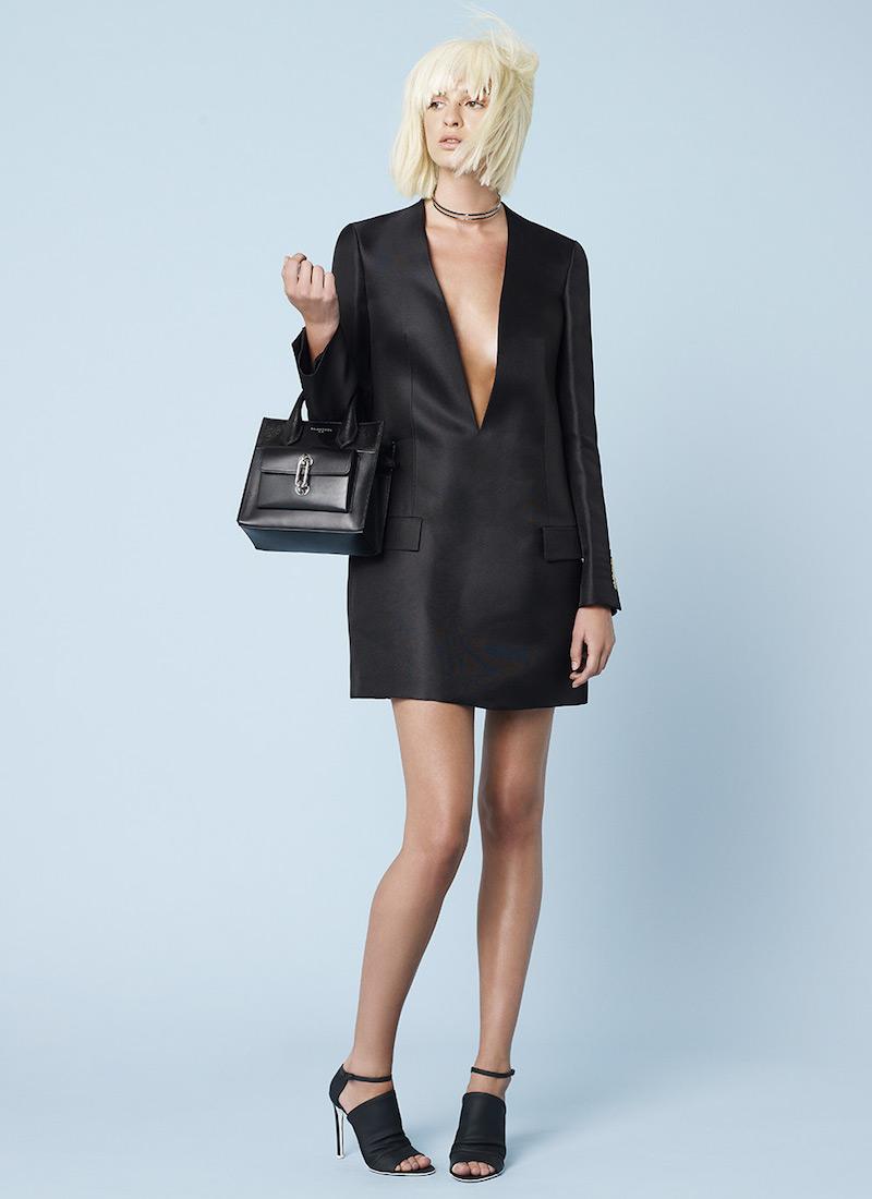 Acne Studios Ryde Organza Suit Mini Jacket Dress