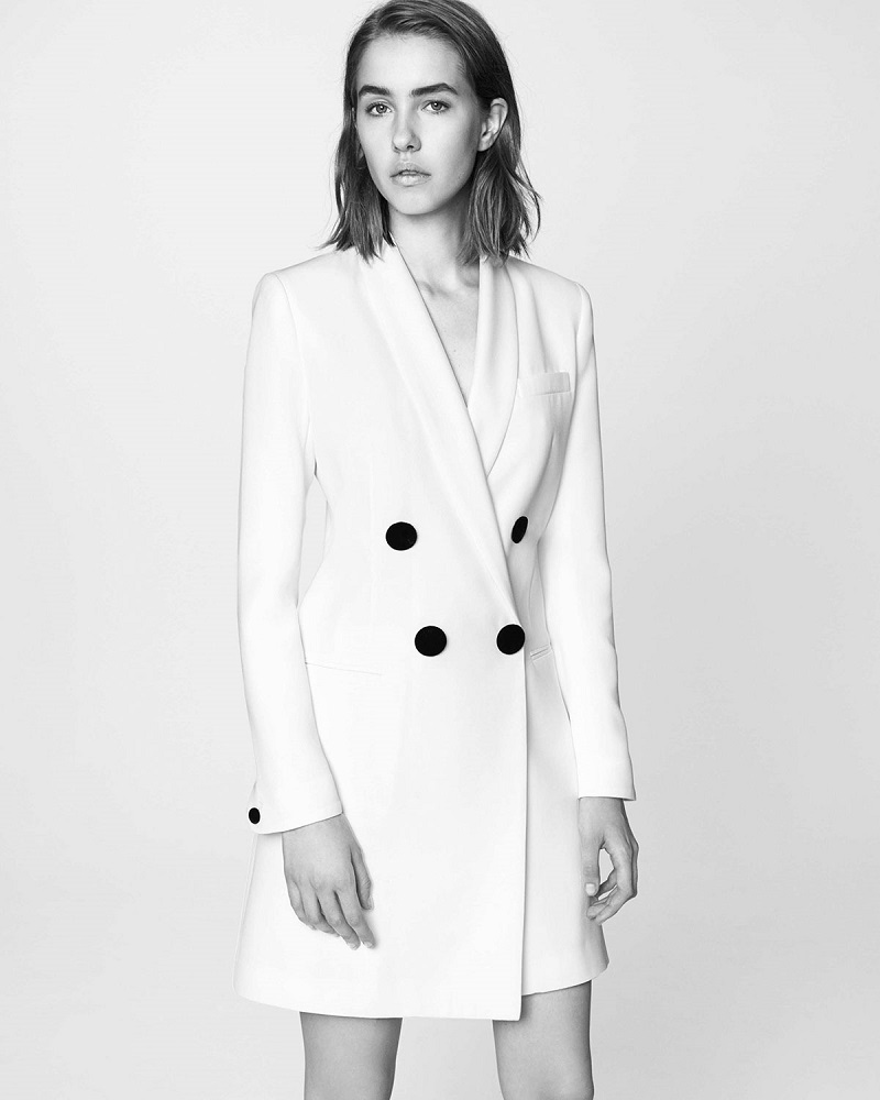 Adam Lippes Asymmetric Double-Breasted Crepe Jacket