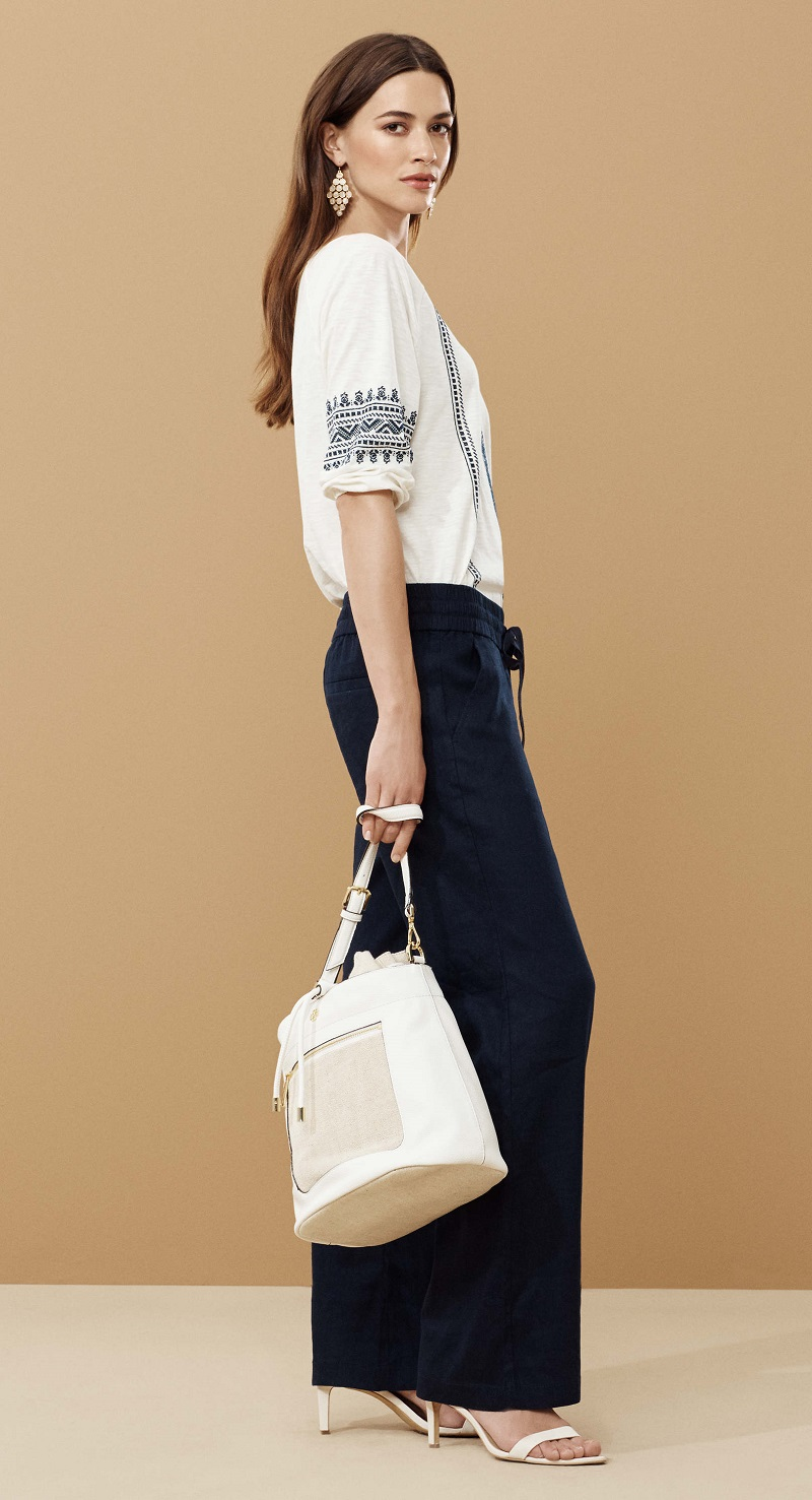 Ann Taylor Canvas Bucket Bag