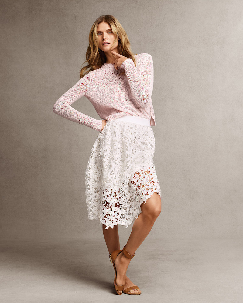 Ann Taylor Layered Lace Skirt