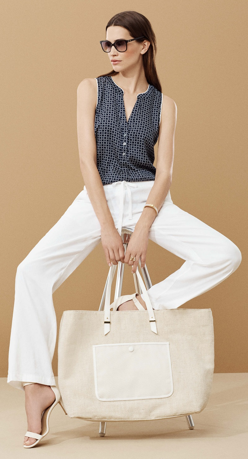 Ann Taylor Tall Canvas Tote