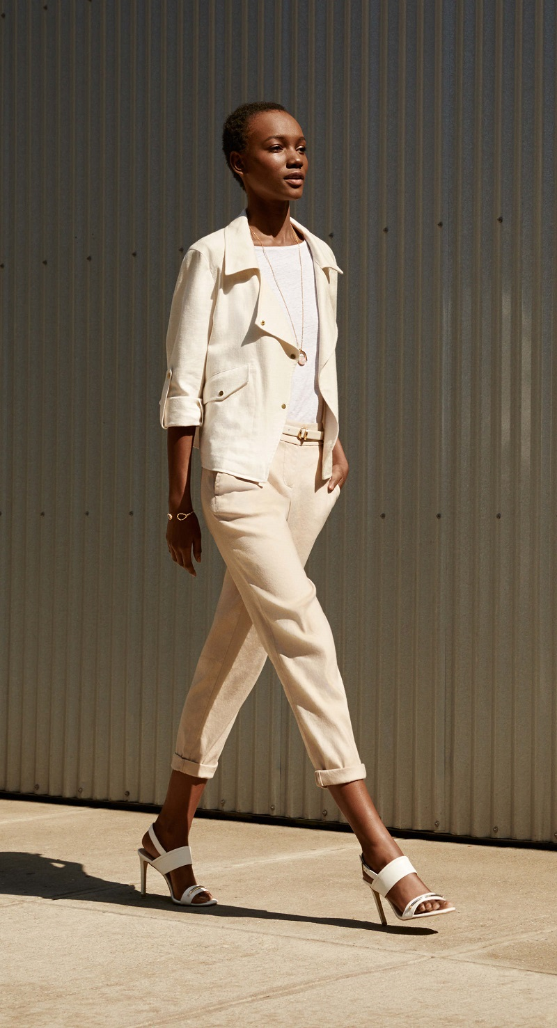 Ann Taylor Textured Cotton Linen Jacket