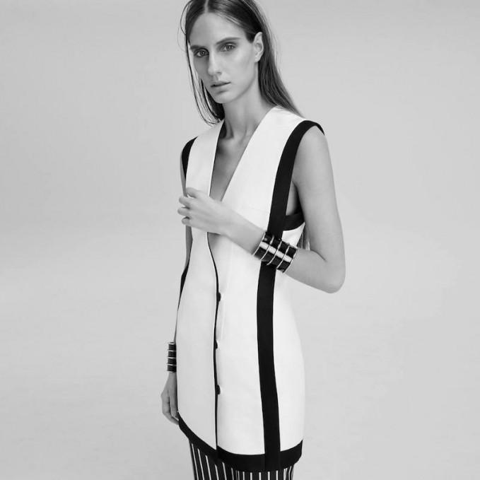 Balmain White Double-Breasted Dress
