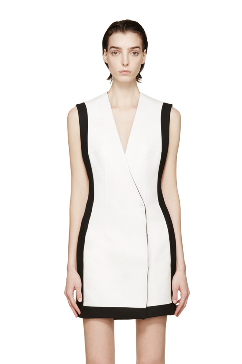 Balmain White Double-Breasted Dress_1