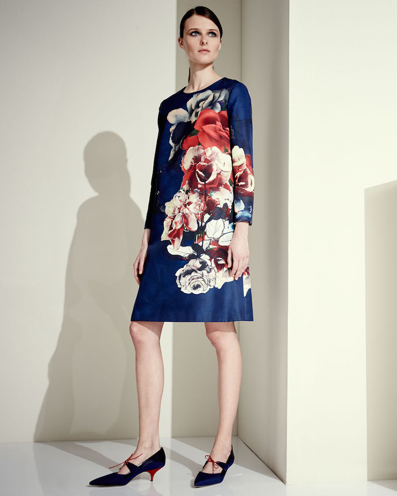 Carolina Herrera Floral Bouquet Shift Dress