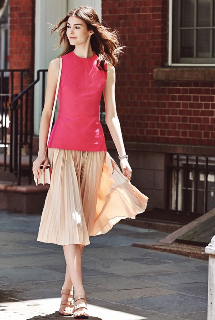 Derek Lam 10 Crosby Pleated Skirt