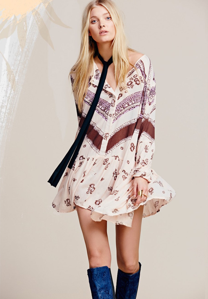 Free People From Your Heart Print Dress